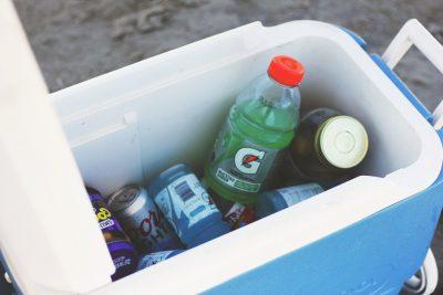 cooler box full of food